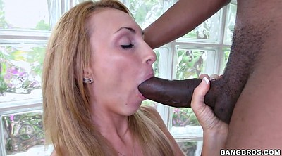 Oral, Black on blondes, Holly, Black and white