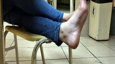 Candid, Girl foot