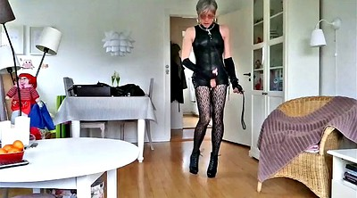Boots, Sissy, Leather boots