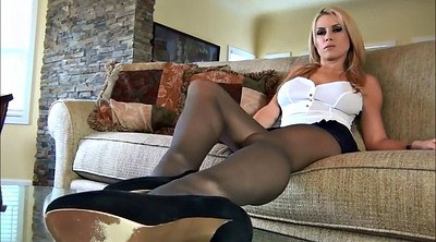 Pantyhose, Body, Solo feet, Pantyhose masturbation, Blond hair
