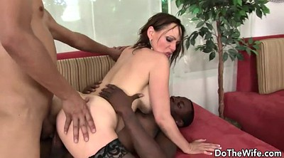 Wife threesome, Cuckold creampie, Wife black cock, Wife anal creampie