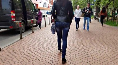 Leather, Hidden cam, Sexy girl, Jacket