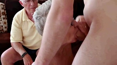 Invite, Old granny, Husband, Mature fuck
