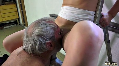 Granny, Old man, Beautiful, Teen hairy