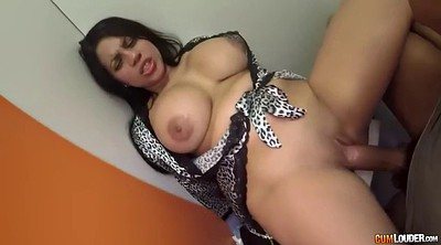 Footjob, Feet, Chubby latina