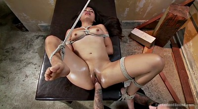 Tied, Asian fisting, Asian bondage