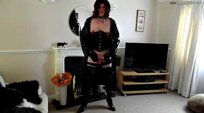 Pvc, Pegging, Thigh, Shemale boots