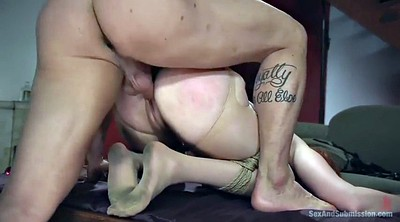 Pantyhose, Gagging, Pantyhose fuck, Redhead bdsm, Pantyhose sex, Tied toyed