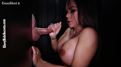 Gloryhole, Stranger, Boobs cumshot