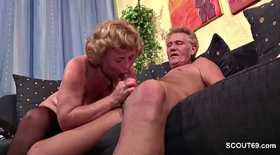 Casting, Mature casting, German granny, Mature couple