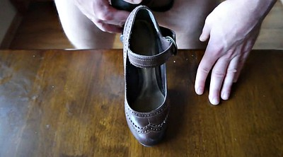 Shoes, Shoe, Woman masturbation, Shoes cum