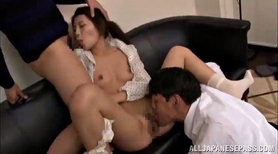 Small tits, Asian guy, Crempie