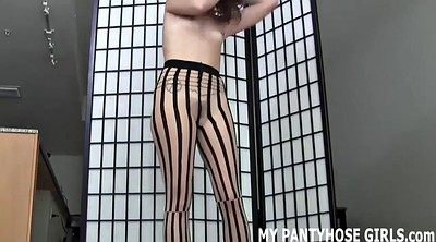 Nylon handjob, Pantyhose handjob, Lovely girl