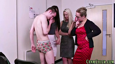 Office handjob, Foursome