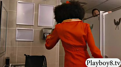 Toilet, Stewardess, Small black, Man and man, Small man, Public toilet