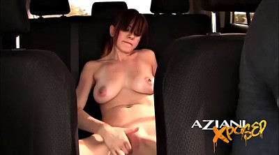 Flash, Public car, Driving, Public upskirt, Naked public, Flash public