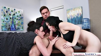 Jennifer white, Office lesbian, Lesbian threesome, Noelle easton