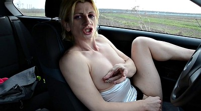 Car, Public masturbation, Clit, Car masturbation