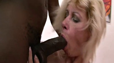 Cum in mouth, Granny interracial