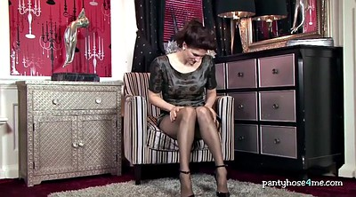 Pantyhose fetish, Nylon, High heels, High heels solo