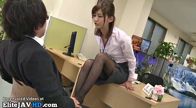 Foot, Nylon, Japanese foot, Japanese massage, Japanese office, Asian pantyhose