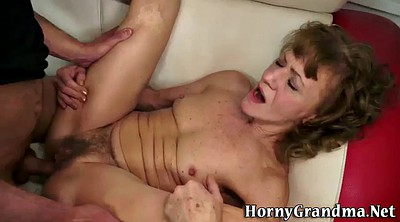 Granny anal, Hairy anal