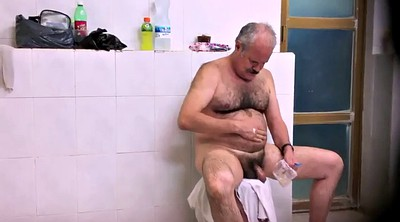 Bathroom, Old gay, Public shower, Hairy shower, Hairy public, Hairy naked
