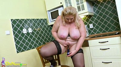 Kitchen, Oldnanny, Busty mature