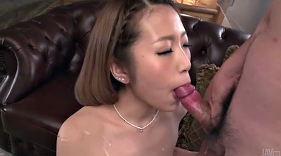 Swallow, Japanese girl, Japanese sucking tits