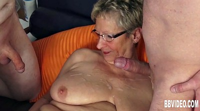 German granny, German milf, Two granny, Granny suck