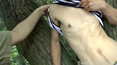 Forest, Outdoor handjob