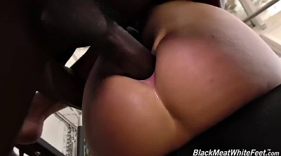 Footjob, Bbc, White ass, Kate england, Chubby bbc