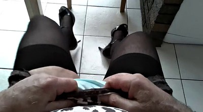 Nylon, Stocking, Crossdressing, Black nylon