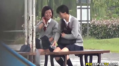 Skirt, Japanese outdoor, Asian public, Japanese public