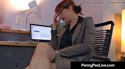 Masturbation, Redhead, Penny pax, Office sex, Office masturbation, Big toy
