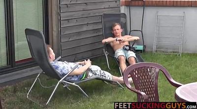 Feet worship, Twink gay, Couple masturbation