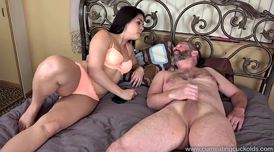 Husband watch wife, Husband watch, Eating cuckold, Eat cum