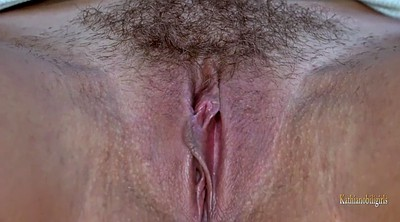 Hairy pussy solo