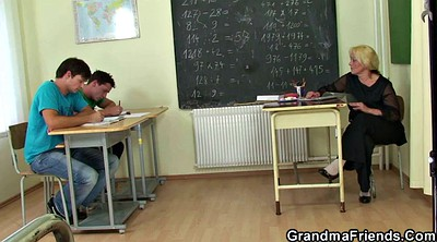 Old teacher, Mature and boy, Young boy, Mature teacher, Mature boy