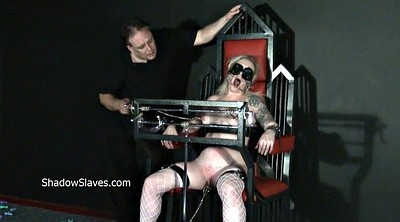 Pain, Leather, Blonde, Painful, Extreme toy, Extreme bdsm