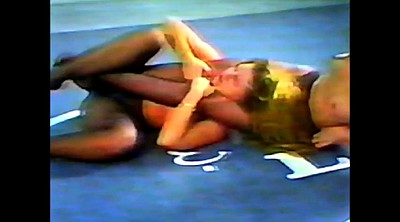 Wrestling, Fight, Pantyhose femdom, Old young lesbian, Mature pantyhose, Fighting