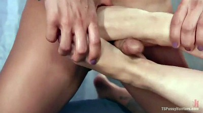 Cytherea, Shemale feet, Missionary creampie, Shemale creampie