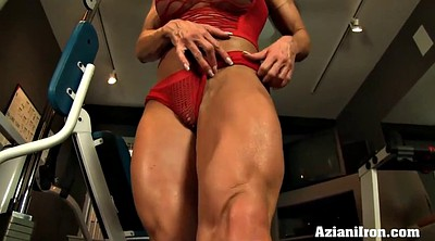 Model, And, Show pussy, Pussy rubbing, Fitness model