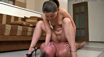 Facesitting, Brutal, Facesit, Teen slave, Teen brutal, Face sitting orgasm