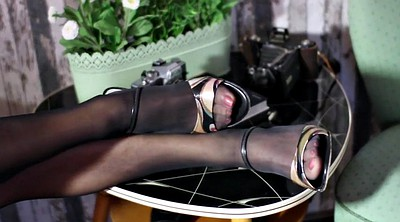 Stocking, Black stocking, Stockings handjob, Stock