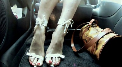 High, In car, High heeled
