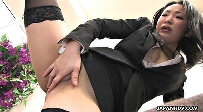 Orgasm, Japanese office, Japanese stocking, Japanese solo, Japanese masturbation, Japanese nylon