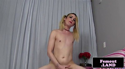 Huge, Femboy, Shemale toys, Pigtail, Huge ass shemale