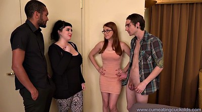 Ebony, Redhead wife, Husband and wife, Cuckold interracial, Blacked wife