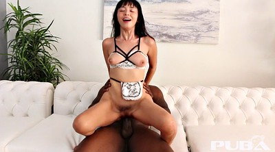 Cumshot, The maid, Asian maid, Interracial asian, Black and asian, The maids
